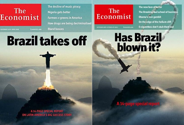As famosas capas da revista britânica The Economist