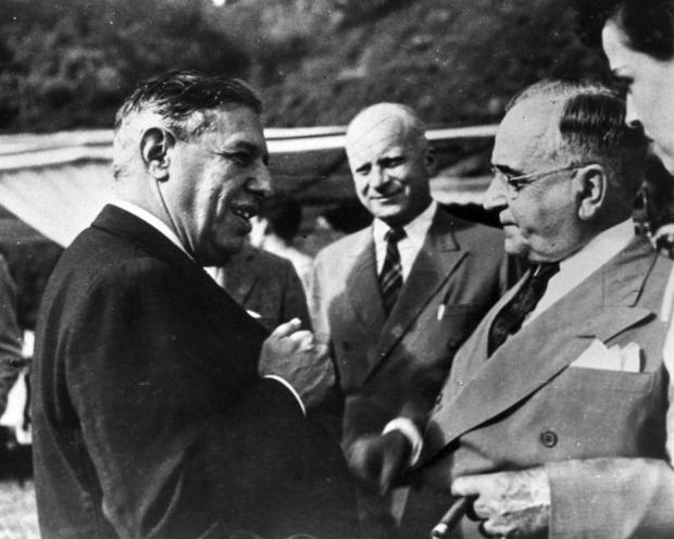 Chatô e Getúlio, nos anos 1940. Fonte: acervo Estadão