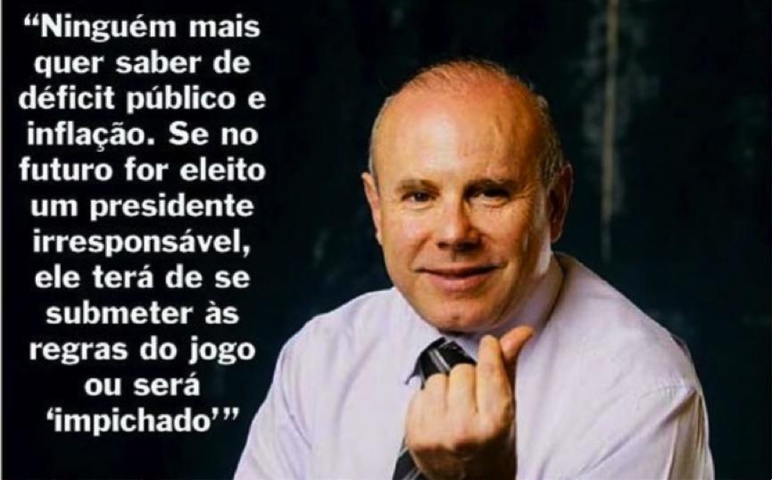 Guido Mantega, então ministro da fazenda em entrevista à revista Veja em 12/12/2007